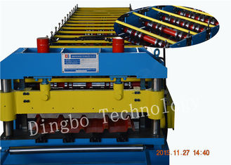 5.5Kw Metal Roofing Forming Machine , Electric Control Standing Seam Metal Roof Machine