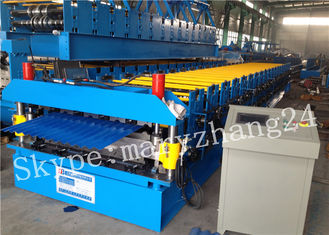 Roof use tile roll forming machine , roofing sheet double layer roll forming machine