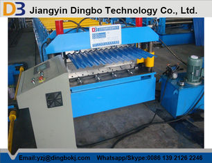 5.5KW Corrugated Roof Panel Roll Forming Machine 0.3mm - 0.8mm thickness