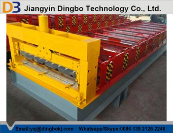 Roof Construction Floor Deck Roll Forming Machine With 30 Groups Rollers