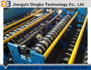 Aluminum Sheet Roof Panel Roll Forming Machine Hydraulic Cutting