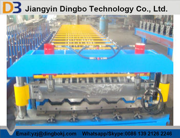 Roofing Sheet Roll Forming Machine With Speed 10 - 15m / min For Construction Material